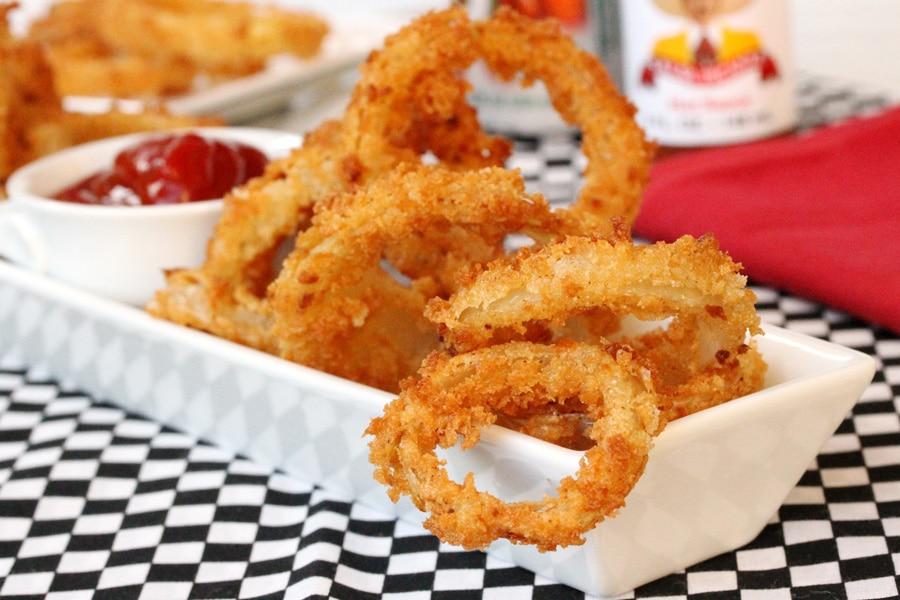 Crispy Onion Rings | Onion rings, Crispy onion, Food